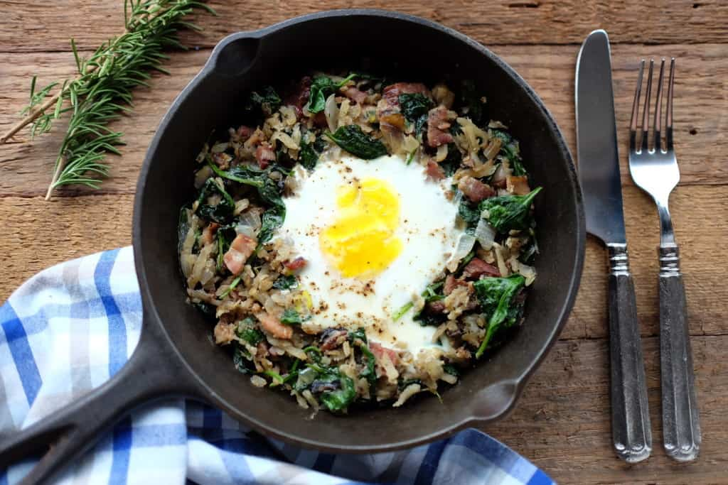 Parsnip breakfast hash