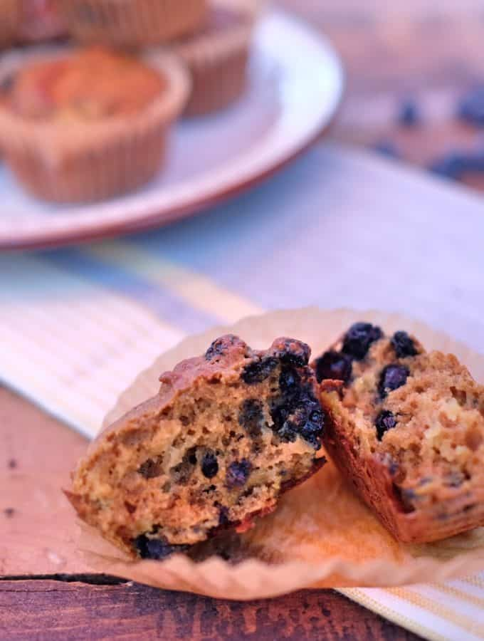 Paleo Blueberry Lemon Zucchini Muffins