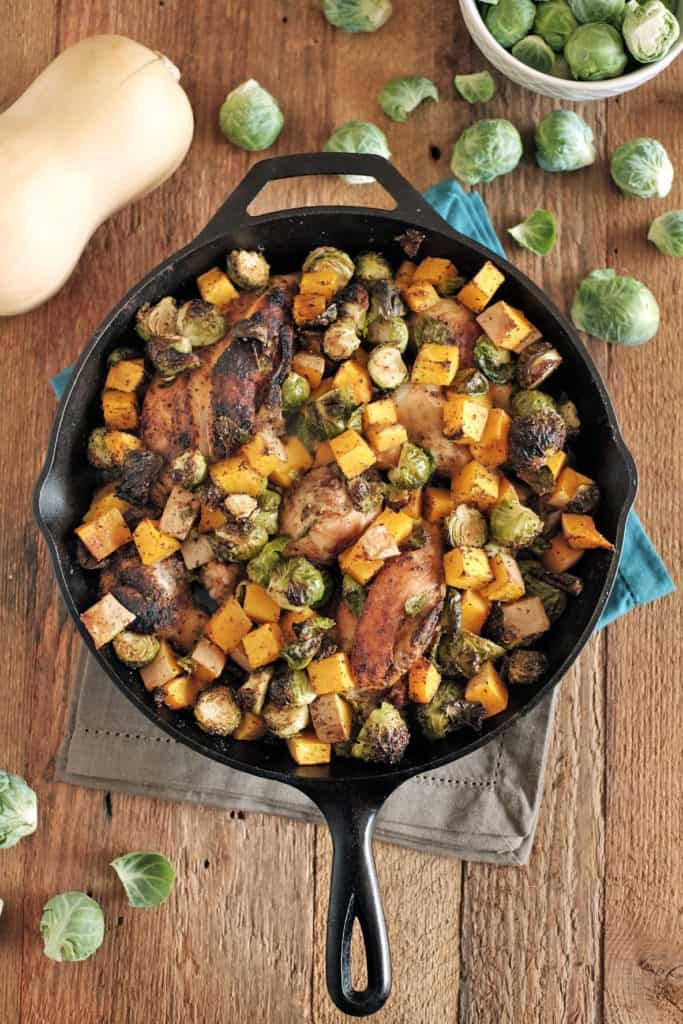 Chicken-skillet-with-brussels-and-squash-four
