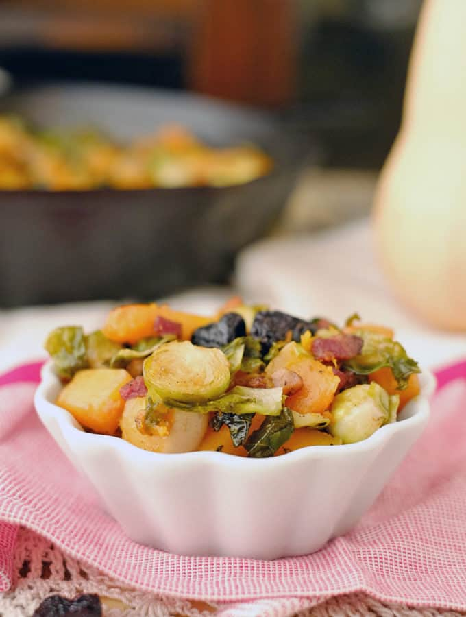 Roasted Brussels Squash Side Dish (Paleo + Whole30)