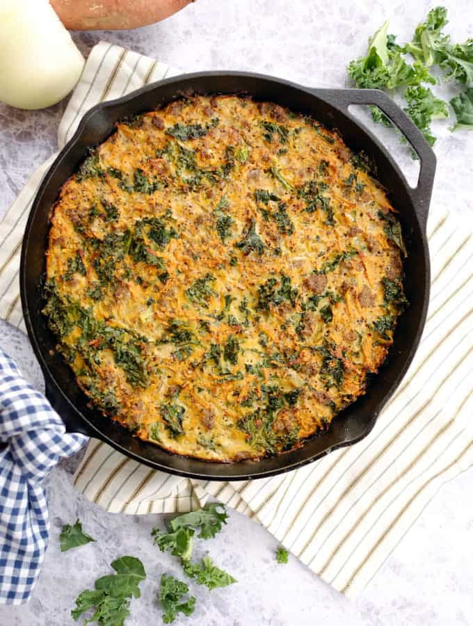 Sweet Potato Quiche (Paleo, Dairy-Free + Whole30)