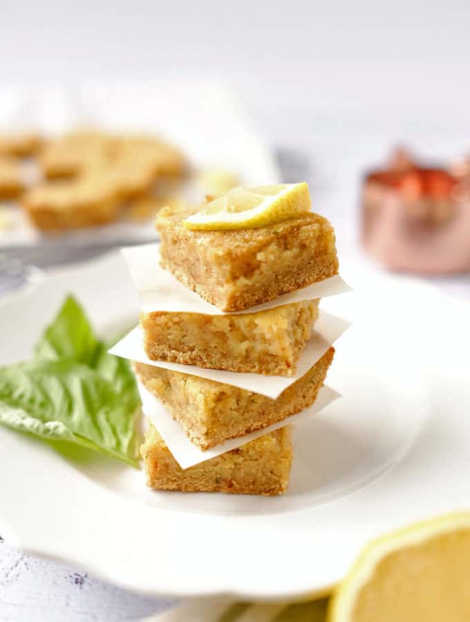 Paleo Lemon Bars (GF, Dairy-Free + Refined Sugar-Free)