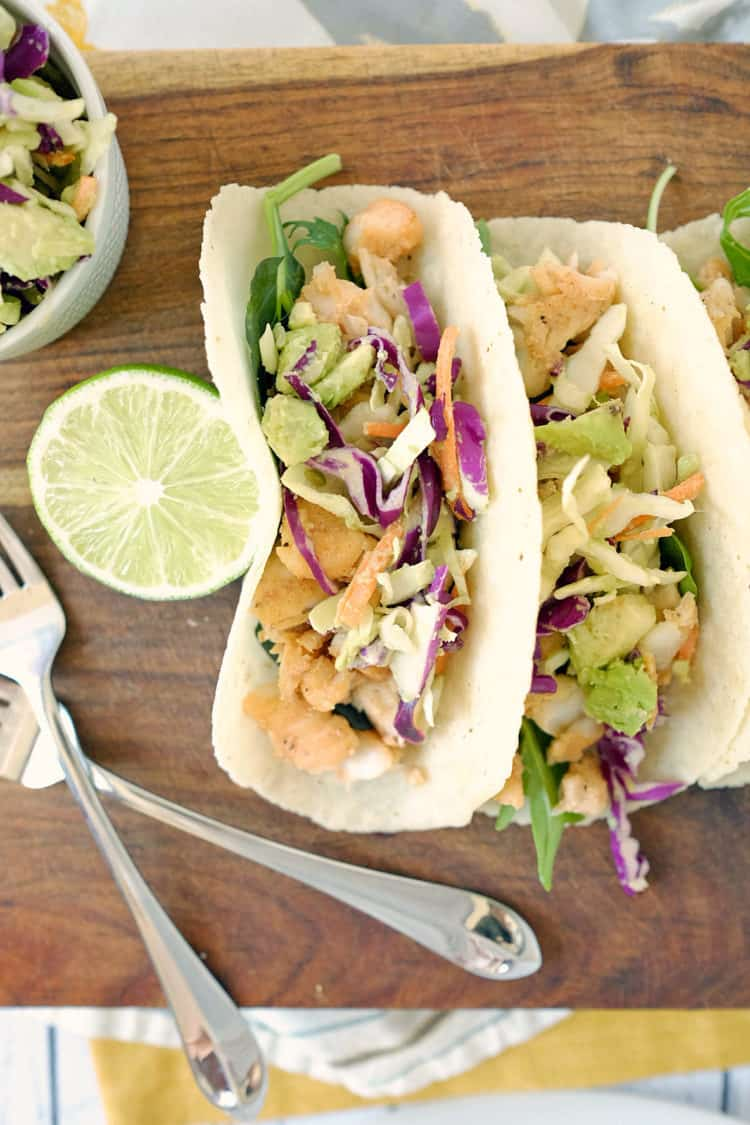 Paleo fish tacos and coleslaw gf dairy free for White fish tacos