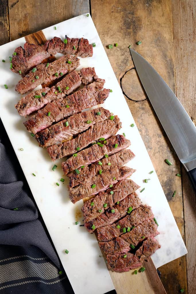 This Whole30 + Paleo steak marinade takes only 5 minutes to put together and is a flavorful marinade that you can use over and over. Only 8 ingredients! Paleo, Gluten-Free and Whole30. | realsimplegood.com