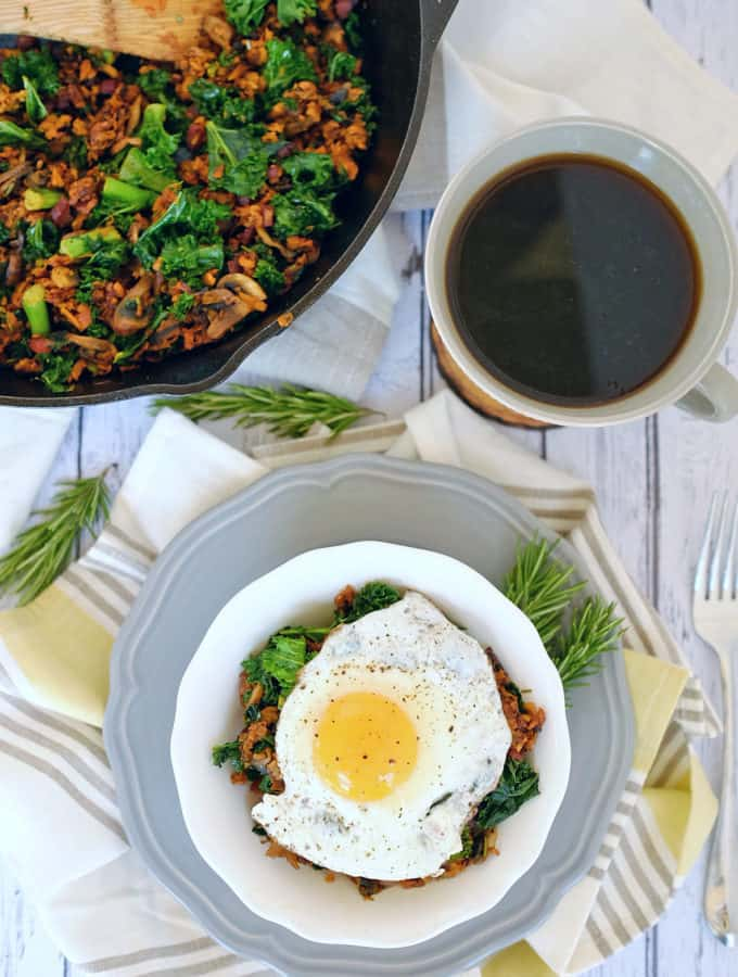 Sweet Potato Breakfast Hash (Paleo, Whole30 + Dairy-Free)