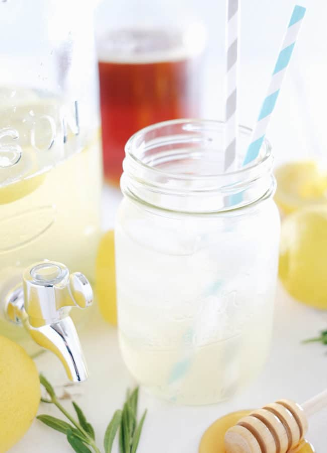Honey Lavender Lemonade (Refined Sugar-Free)