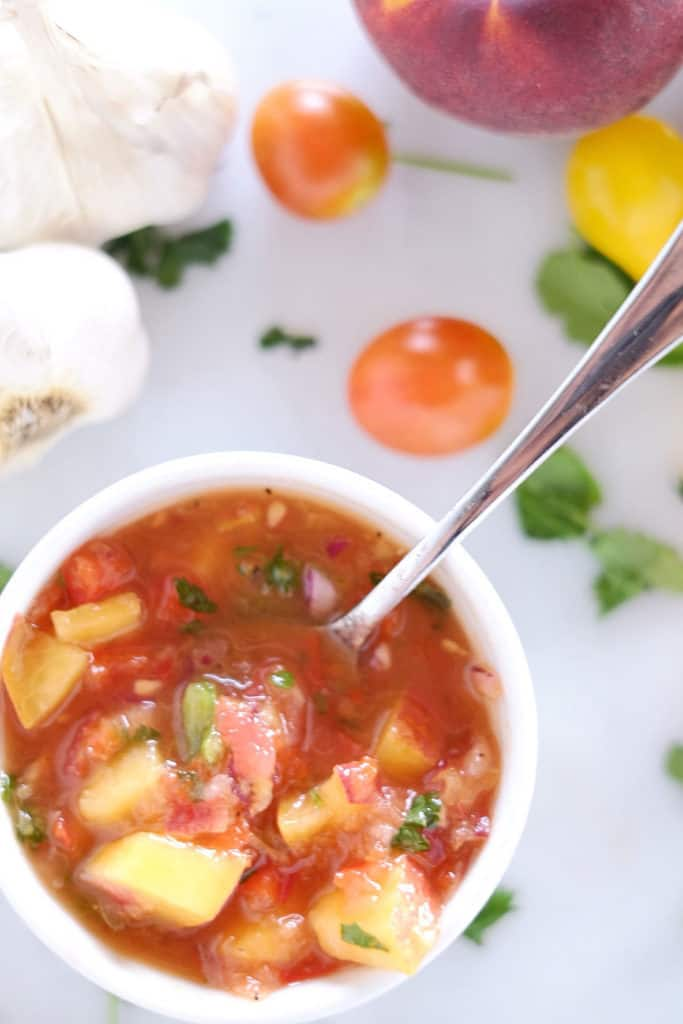 Fresh, local peaches are perfect for this summertime peach salsa. It doesn't get any better or fresher than this Paleo + Whole30 homemade salsa. Paleo + Whole30.   realsimplegood.com