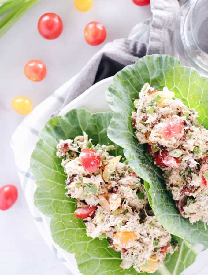 Quick + Easy BLT Chicken Salad (Paleo, GF + Dairy-Free)