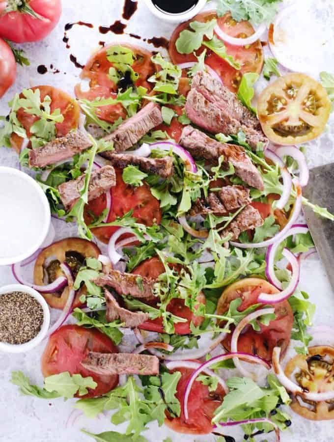 Simple Steak Salad (Paleo, GF + Dairy-Free)