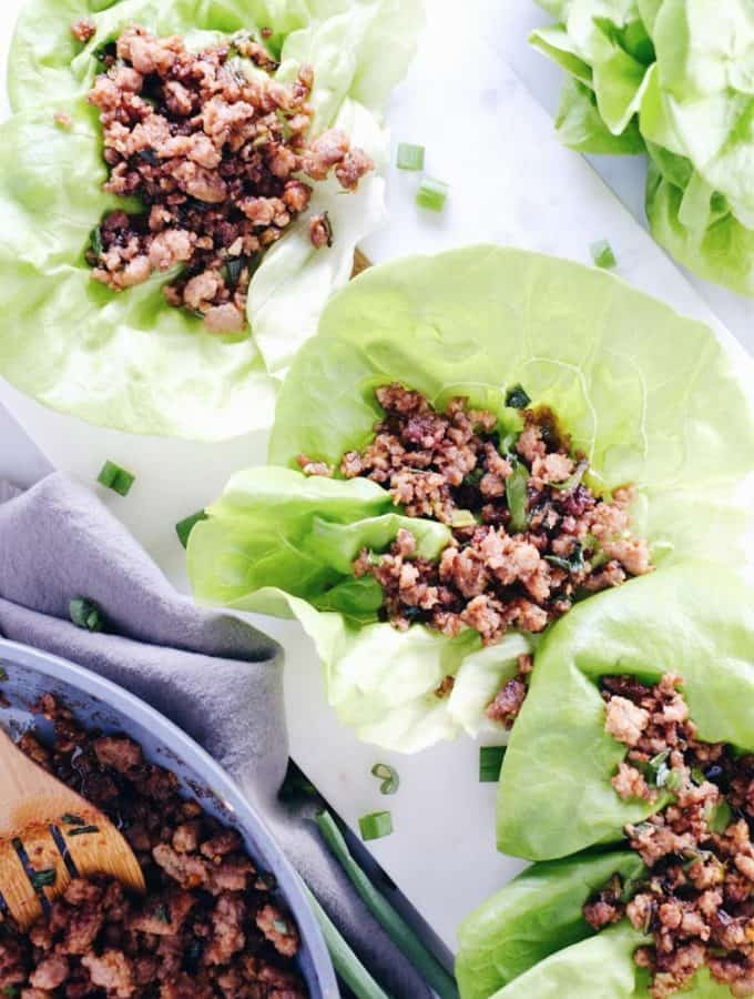 Pork Lettuce Wraps – Quick + Easy (Paleo, Whole30 + Soy-Free)