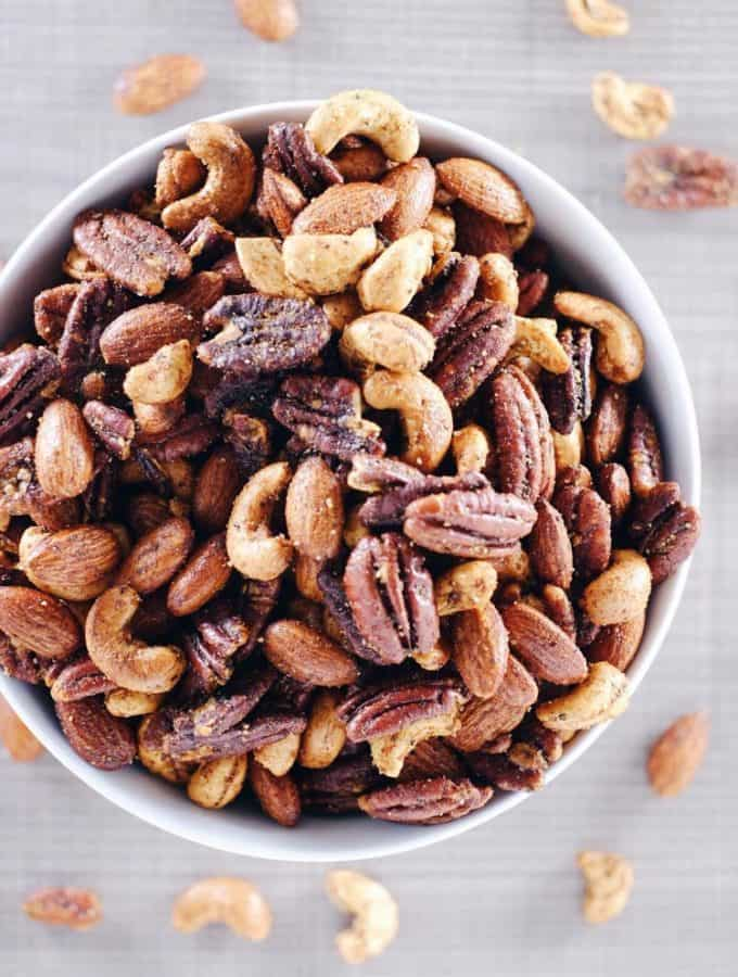 Spicy Nuts – Quick + Easy Paleo + Whole30 Snack