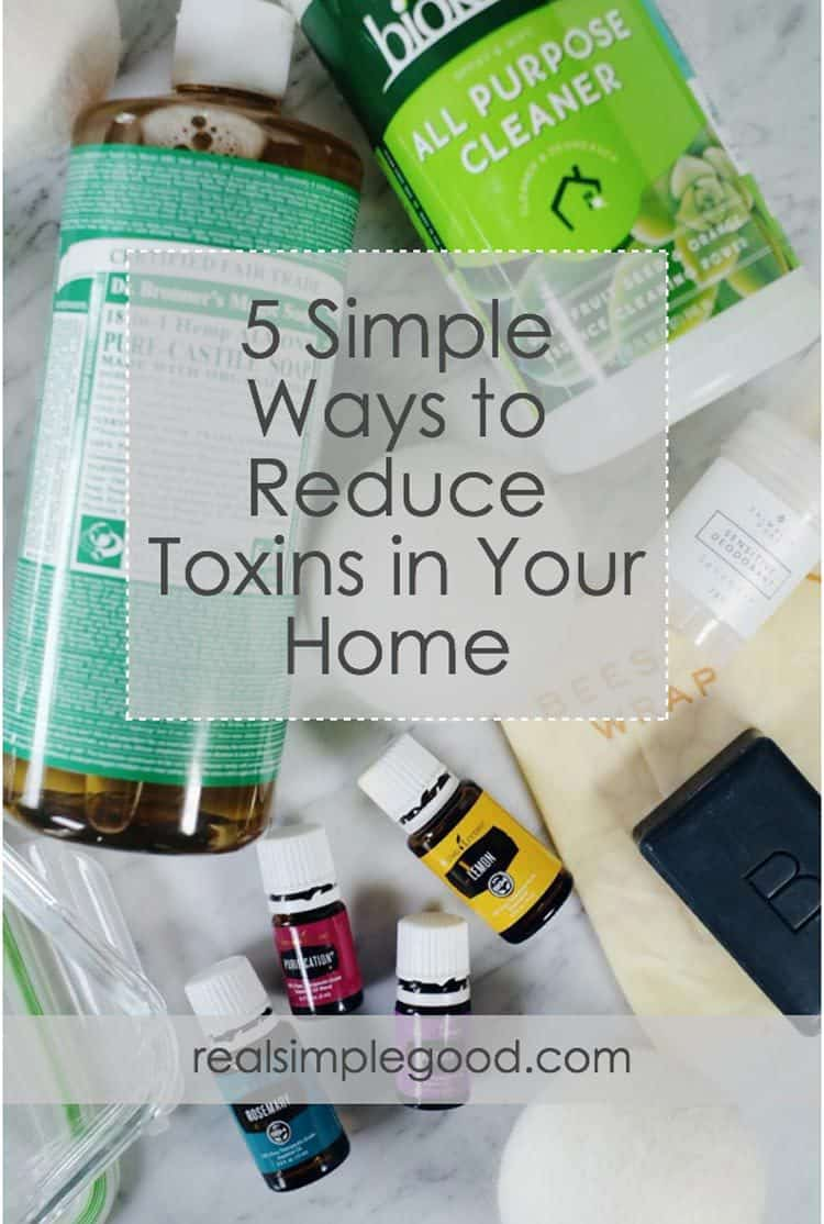 Toxins are everywhere - the air we breathe, water we drink, products we use and foods we eat. This post will teach you how to reduce toxins in your home. | realsimplegood.com