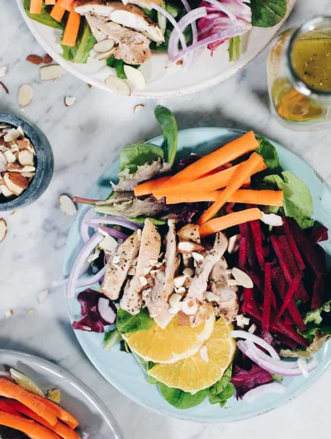 Chicken and Beet Salad with Orange (Paleo + Whole30)