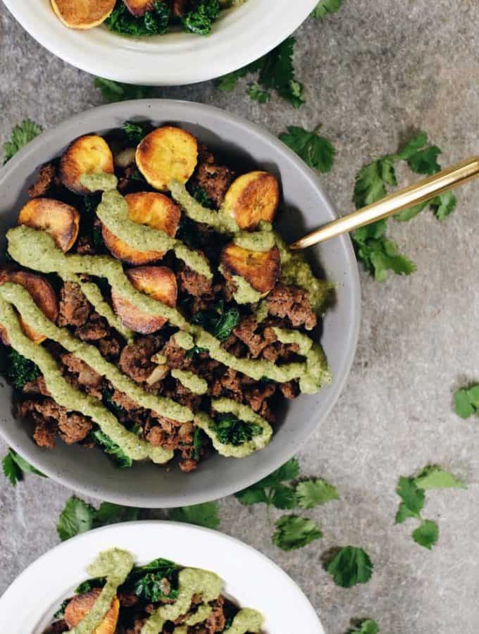 Ground Beef And Plantain Bowls (Paleo + Whole30)