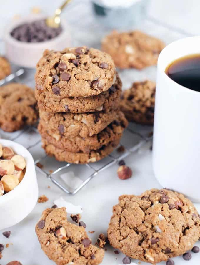 Hazelnut Chocolate Chip Cookies (Paleo, GF + Dairy-Free)
