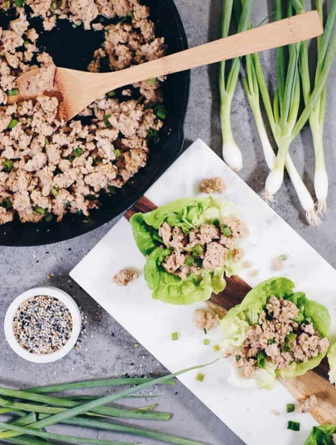 Healthy Teriyaki Chicken Lettuce Wraps (Paleo, GF, Soy-Free + Refined Sugar-Free)