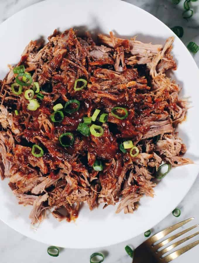 Instant Pot Whole30 Pulled Pork with BBQ Sauce (Paleo)