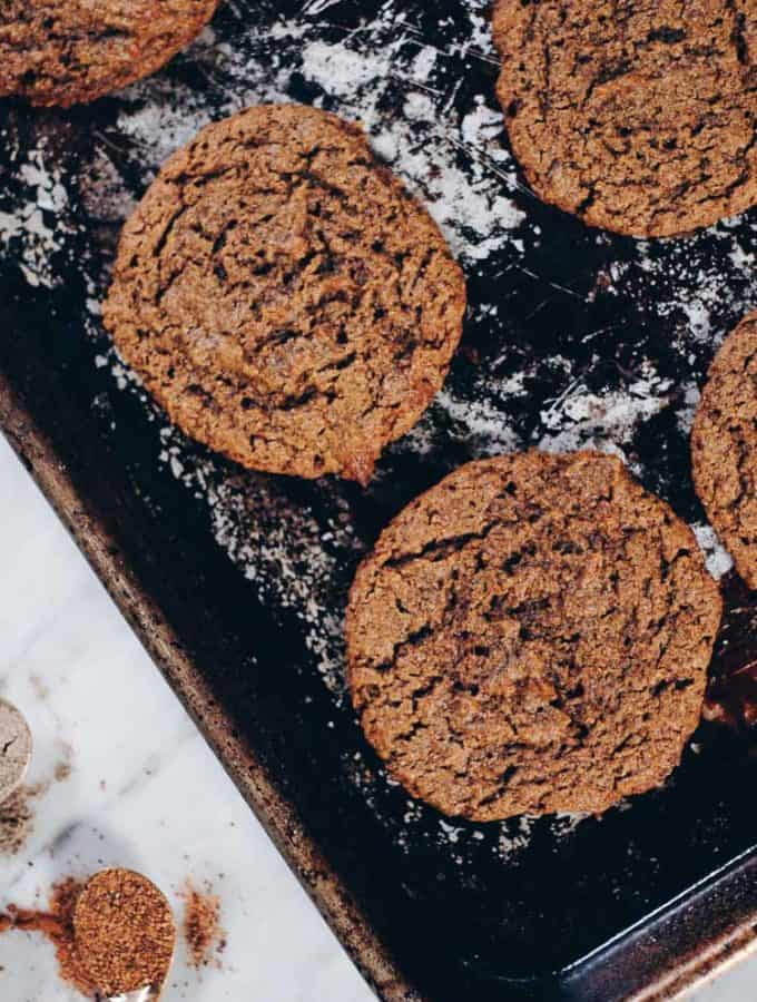 Paleo Chai Spiced Cookies (GF, Dairy-Free, Egg-Free + Refined Sugar-Free)