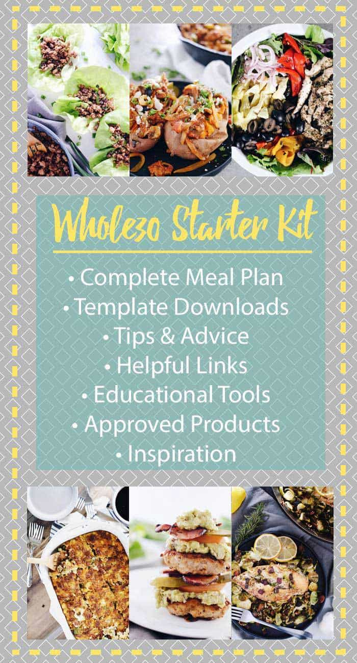Whole30 starter kit with resources and tools to get you started on your Whole30. Template downloads, links, tips, recommendations and Whole30 rules. #Whole30 | realsimplegood.com