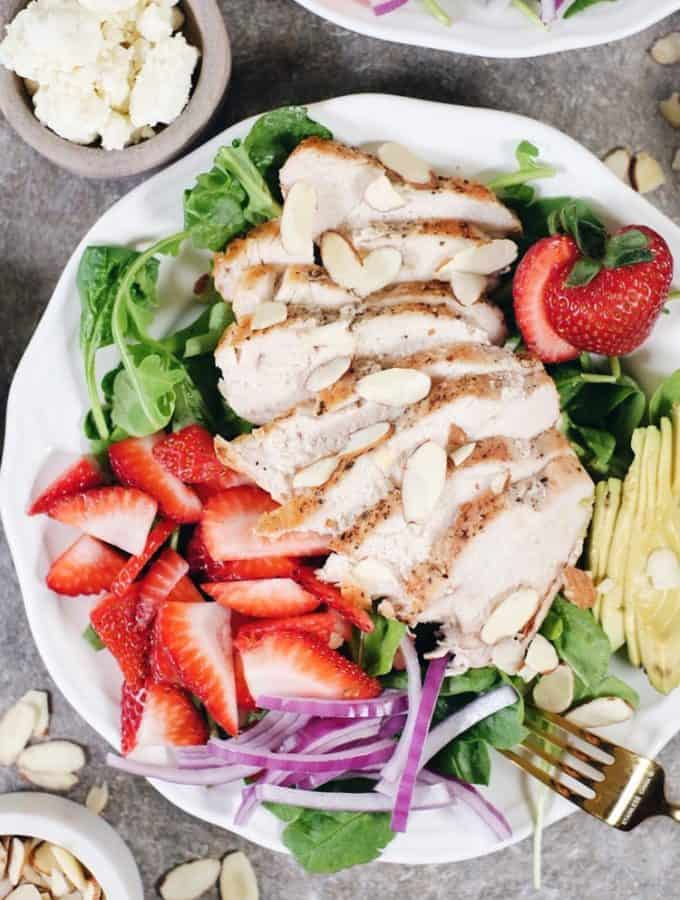 Strawberry Chicken Salad (Paleo + Whole30)