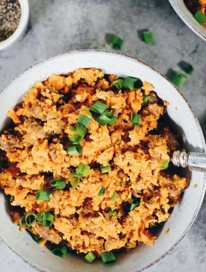 Sweet Potato Pork Fried Rice (Paleo + Whole30)