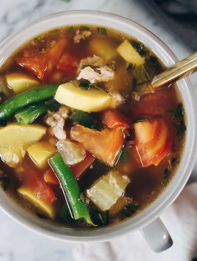 Turkey and Summer Vegetable Soup (Paleo + Whole30)