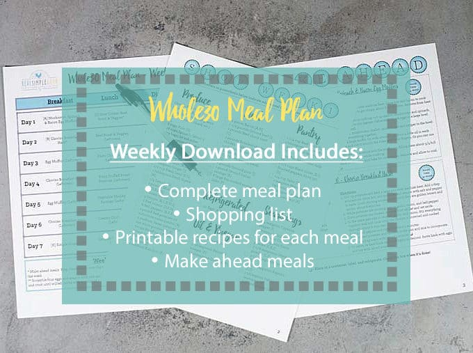 Whole30 Meal Plan (Complete Recipes + Shopping Lists)