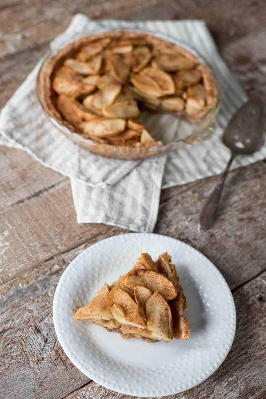 Slice of paleo apple pie