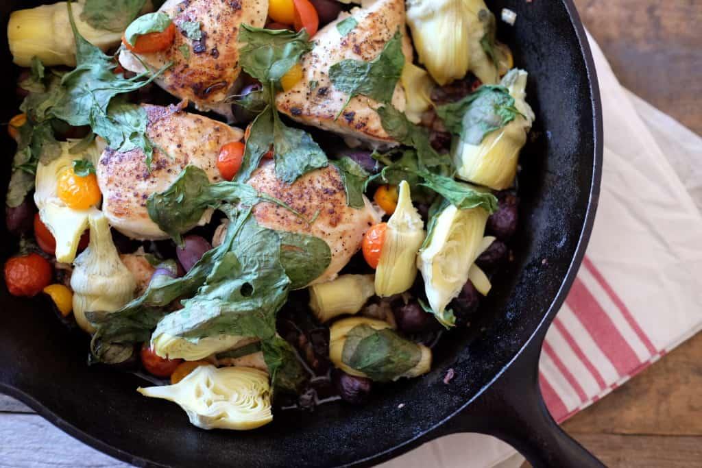 One Pan Mediterranean Chicken Skillet