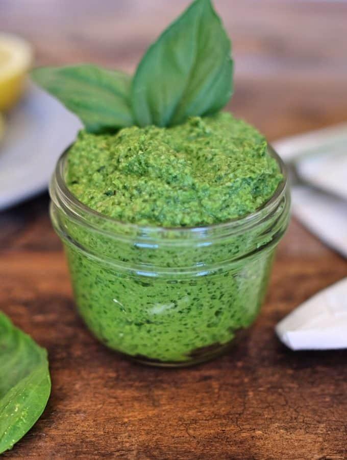 Lemon Artichoke Pesto Sauce