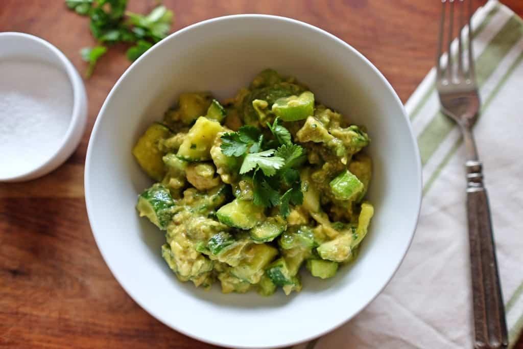 Crunchy Cucumber Avocado Salad
