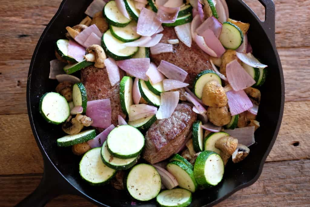 One pan steak dinner 2