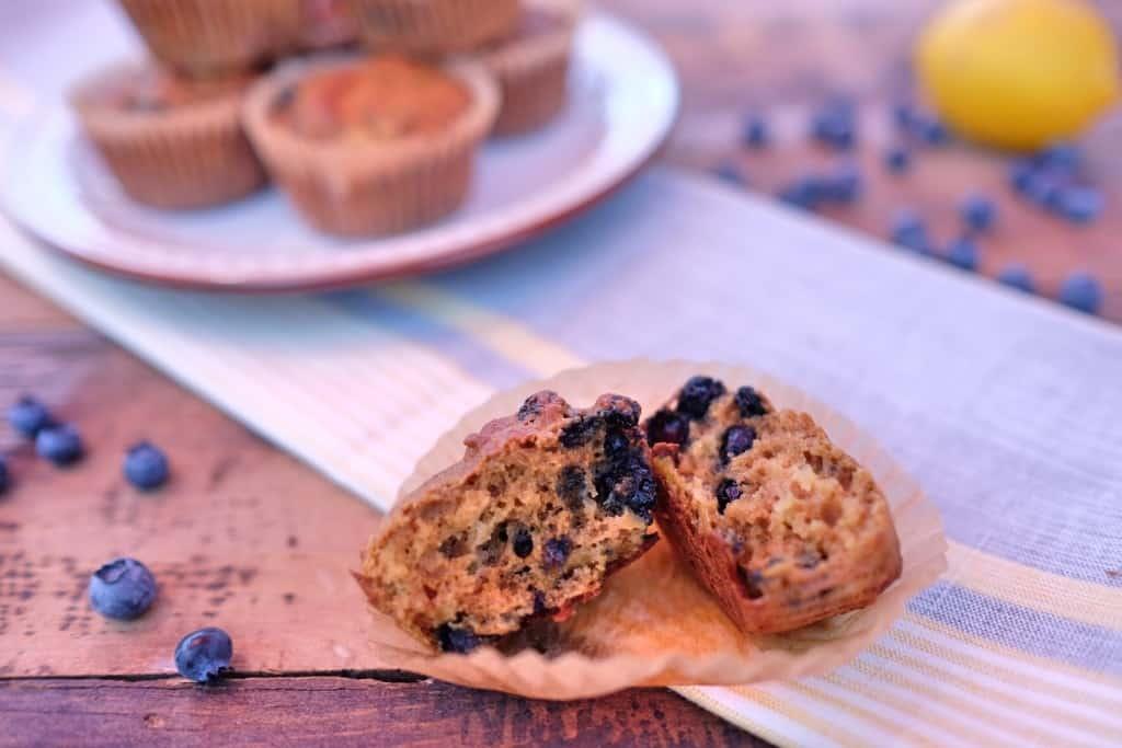Blueberry lemon zucchini muffins