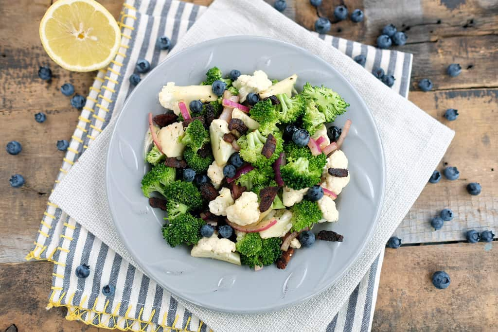Broccoli cauliflower salad edited