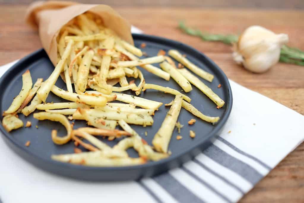 Garlic rosemary parsnip fries