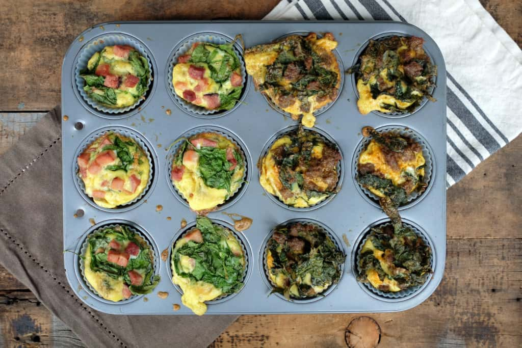 Paleo egg muffins in pan