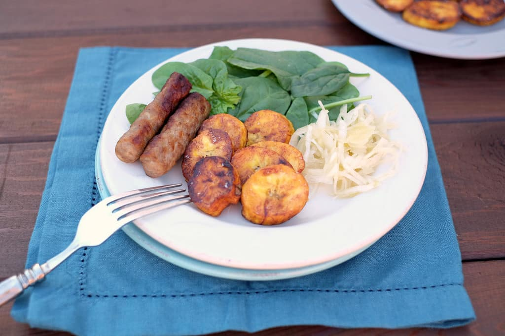 Pan fried plantains two
