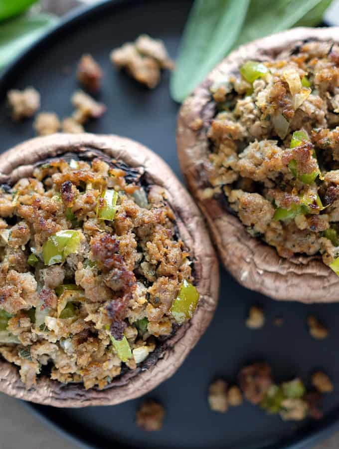 Sausage Stuffed Portobello Mushrooms (Paleo + Whole30)