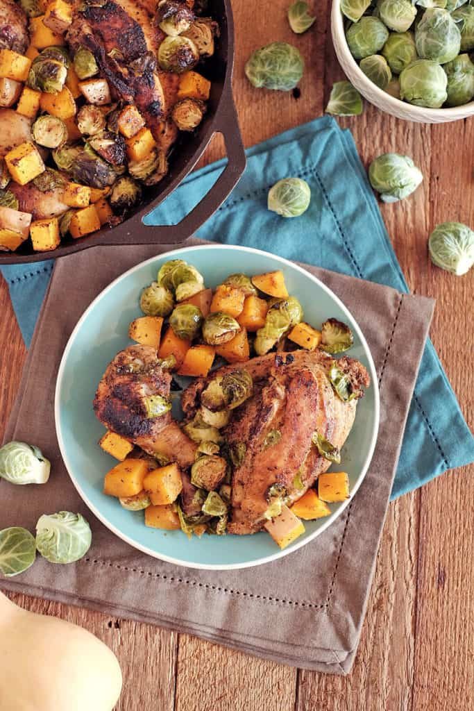 Chicken-skillet-with-brussels-and-squash-two