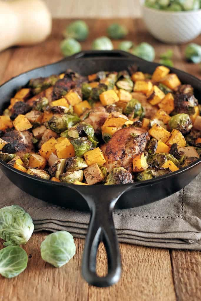 Chicken-skillet-with-brussles-and-squash-three