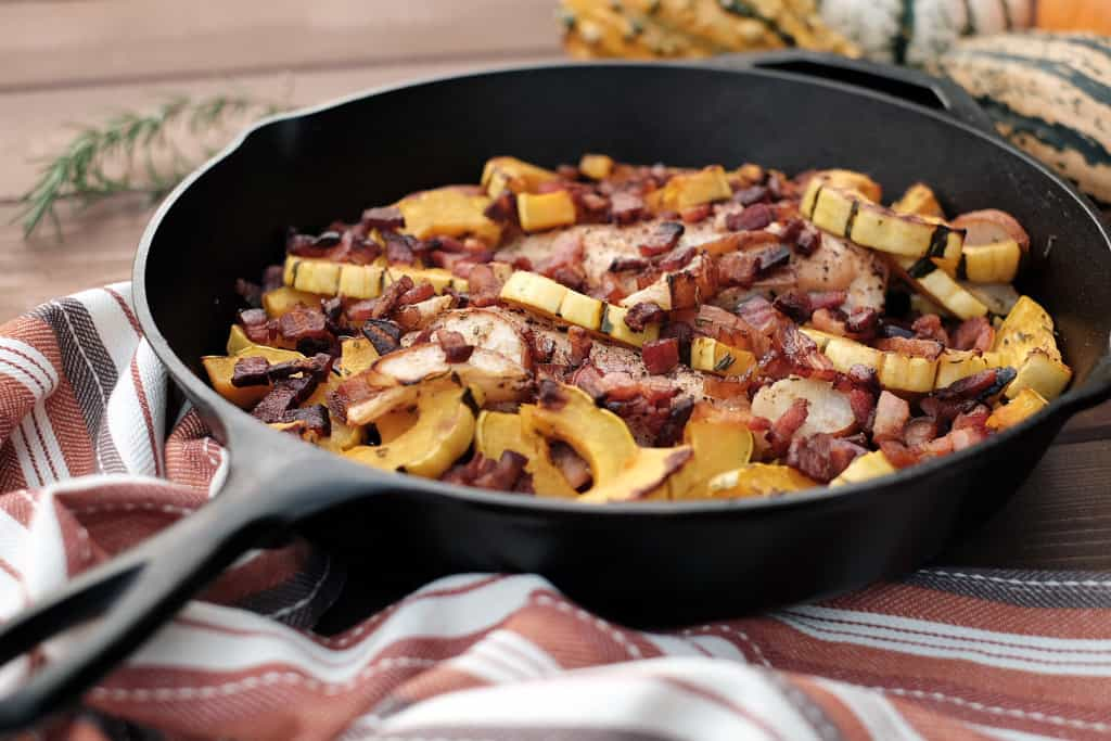 Pear and Squash Chicken Skillet