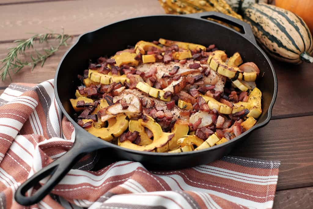 Pear and Squash Chicken Skillet two