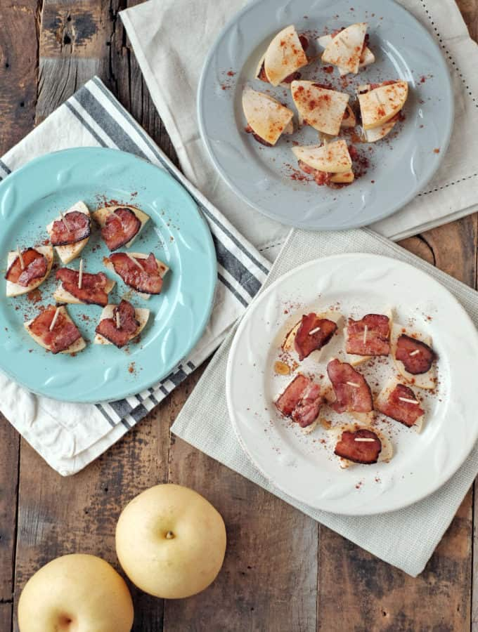 Pear and Bacon Bites