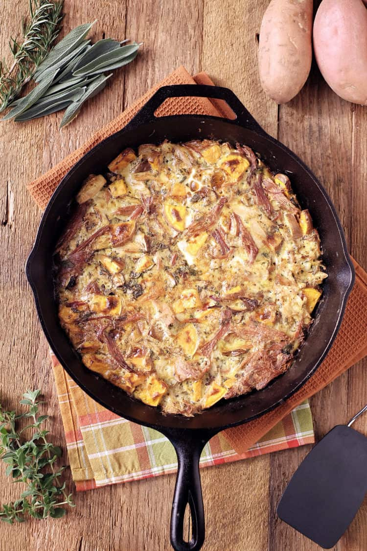 Ham and Turkey Frittata