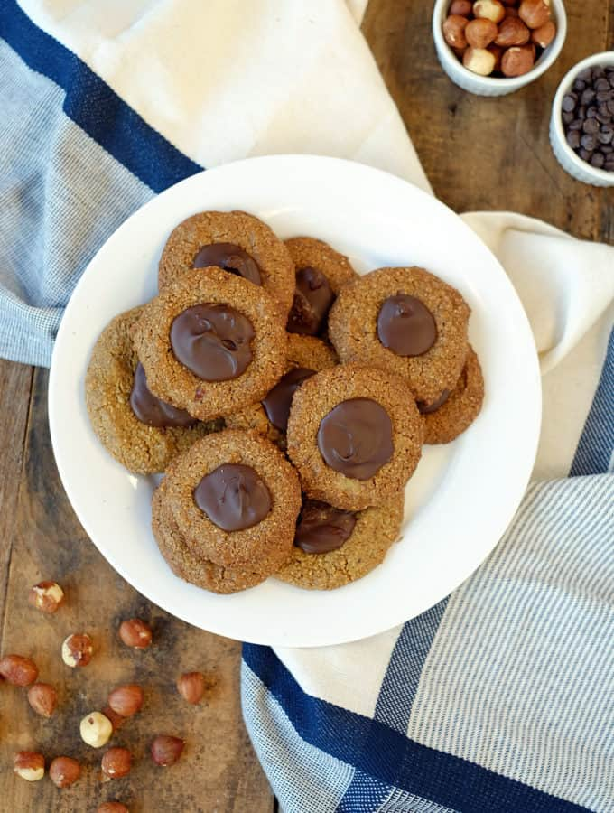 Hazelnut Thumbprint Cookies (Paleo, GF + V)