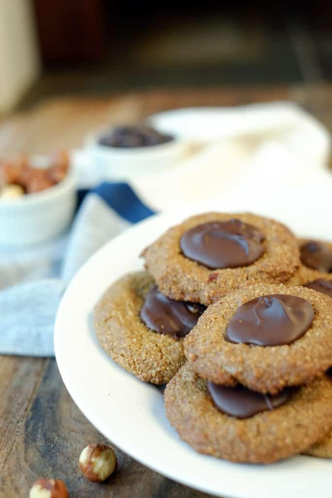 Hazelnut thumbprint cookies two