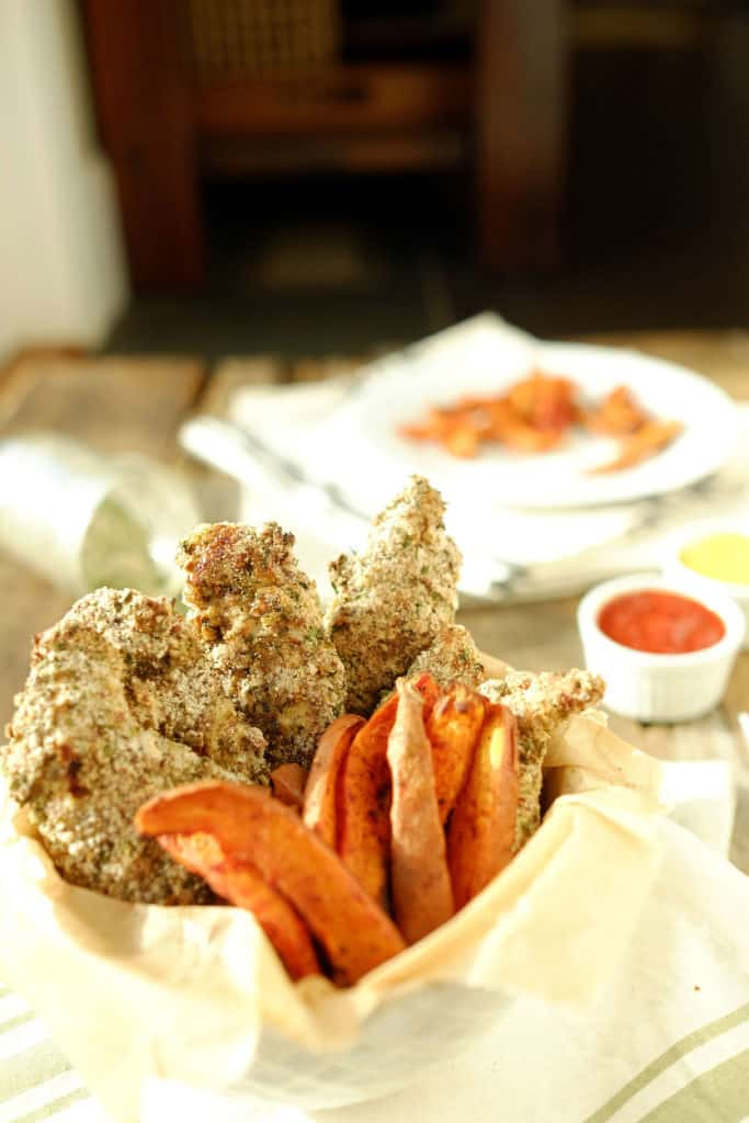 Our Paleo + Whole30 baked ranch chicken tenders are taking it up a notch.The ranch seasoned coating is perfect for dipping into your favorite sauces.Paleo + Whole30.   realsimplegood.com