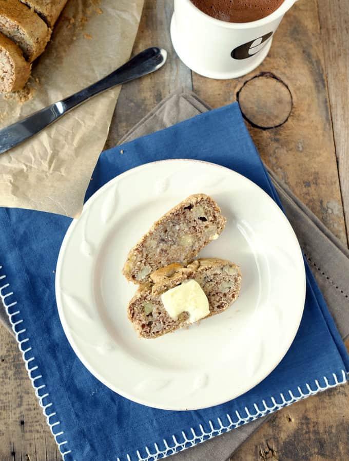 Paleo Banana Bread (Dairy-Free, GF + Refined Sugar Free)