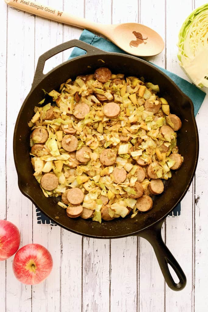 Cabbage-and-sausae-side-dish-two