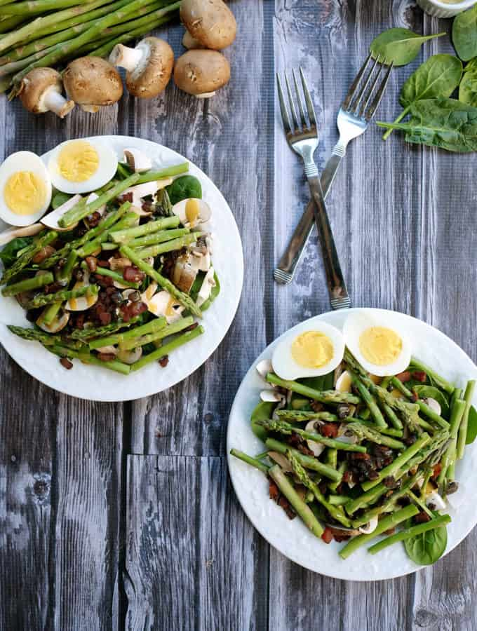 Honey Mustard Asparagus Bacon Salad